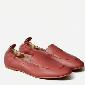 Everlane The Day Loafer in dark rose color